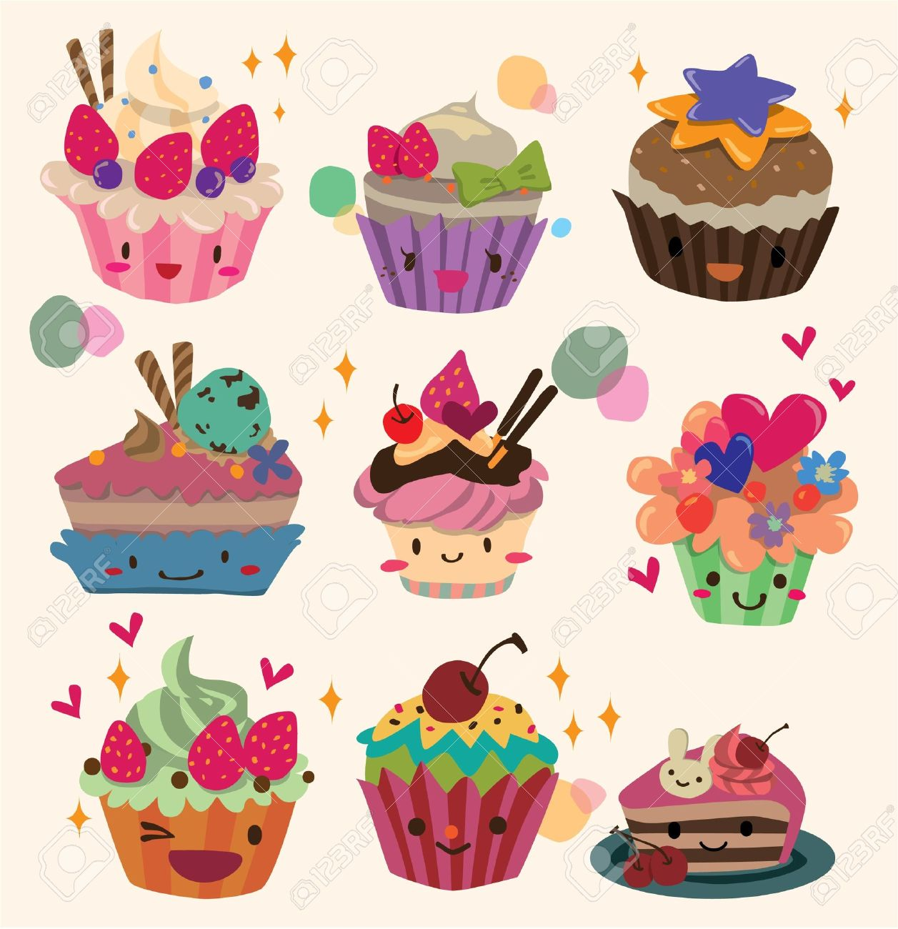 cartoon cake Stock Vector - 8501583