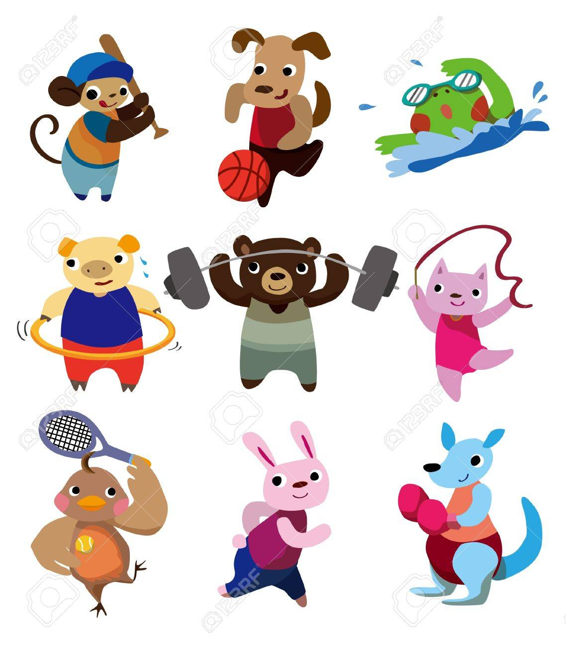cartoon animal sport Stock Vector - 8502708
