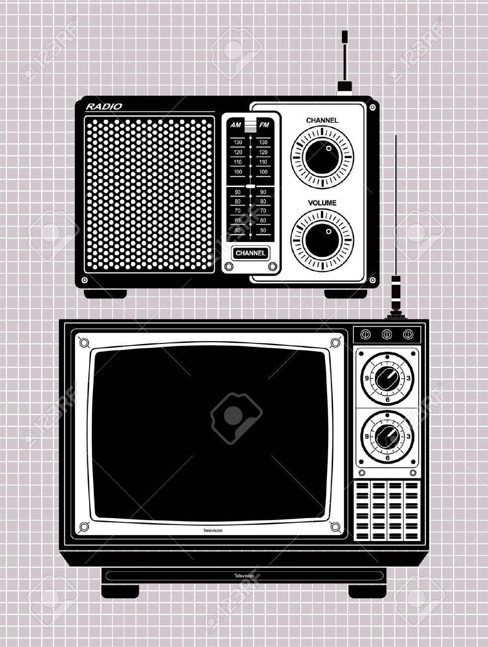 tv and radio Stock Vector - 8504805