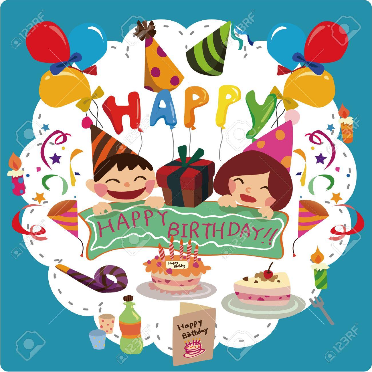 birthday card Stock Vector - 8513585