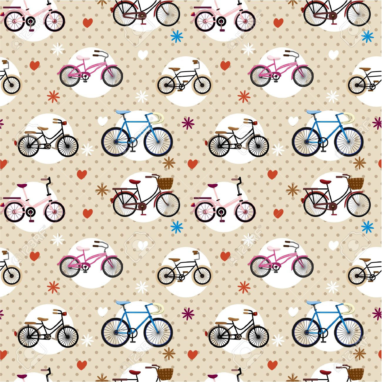 seamless bicycle pattern Stock Vector - 8505662