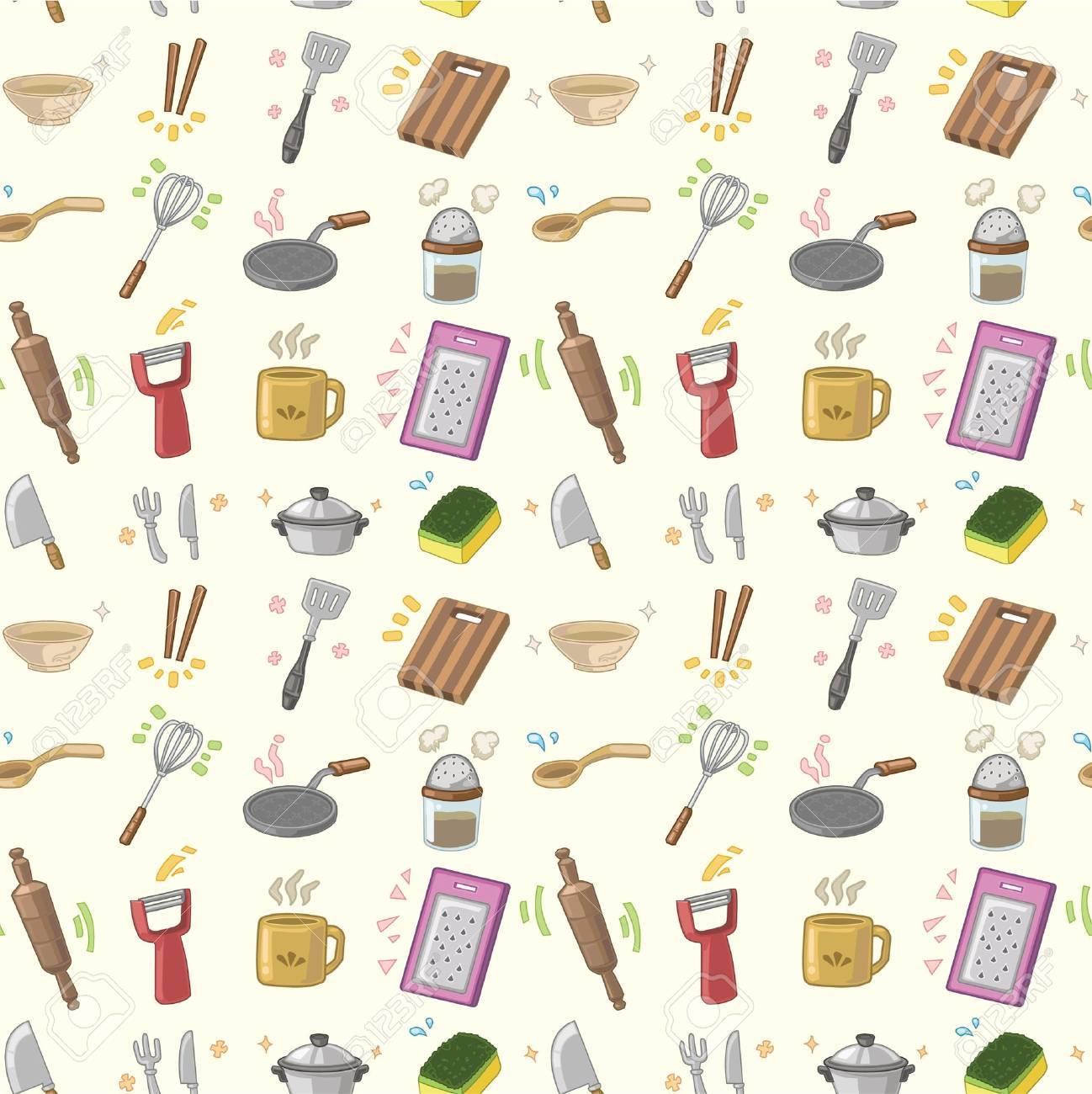 seamless Kitchen pattern Stock Vector - 8505671