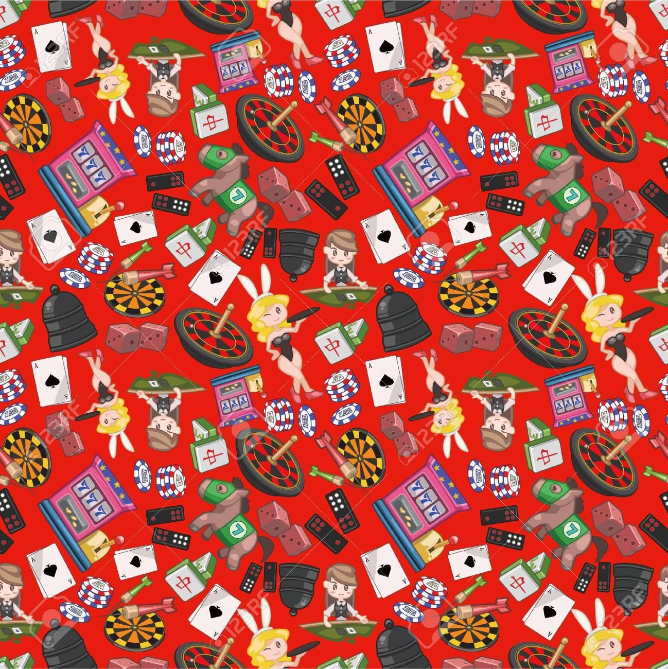seamless casino pattern Stock Vector - 8505703