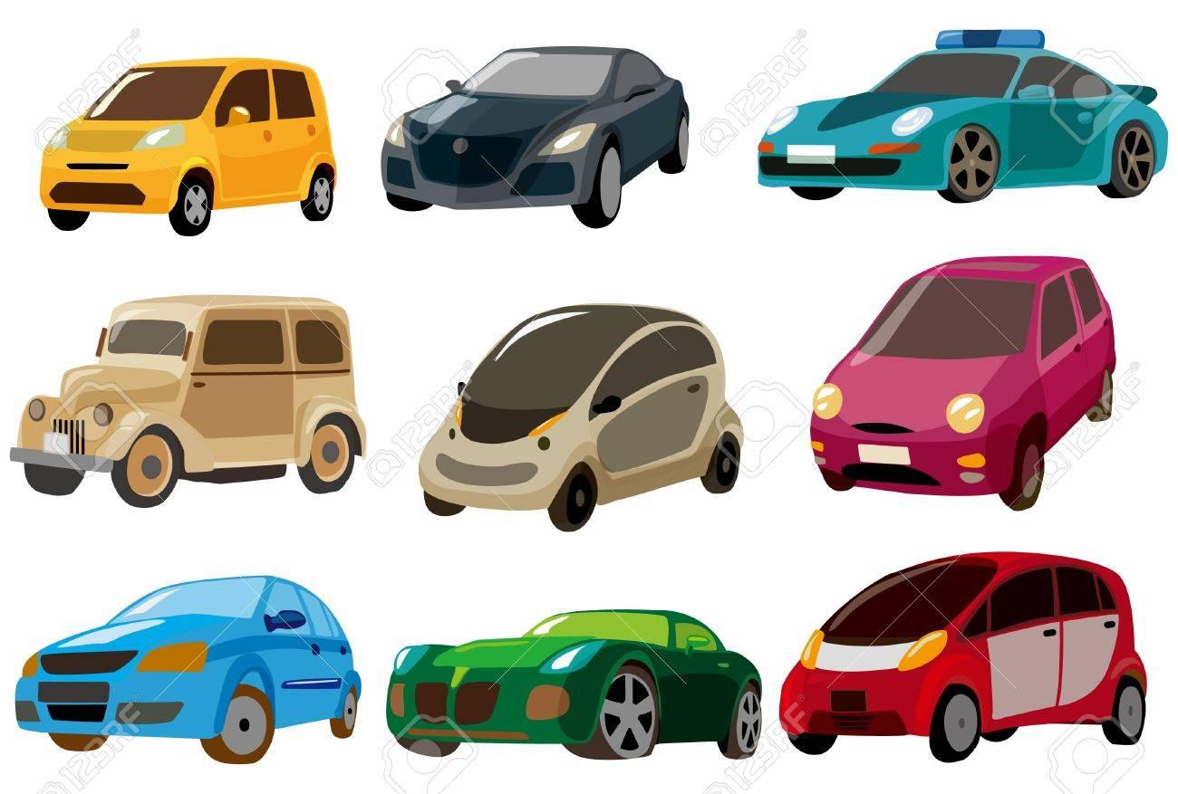 cartoon car icon royalty free cliparts vectors and stock