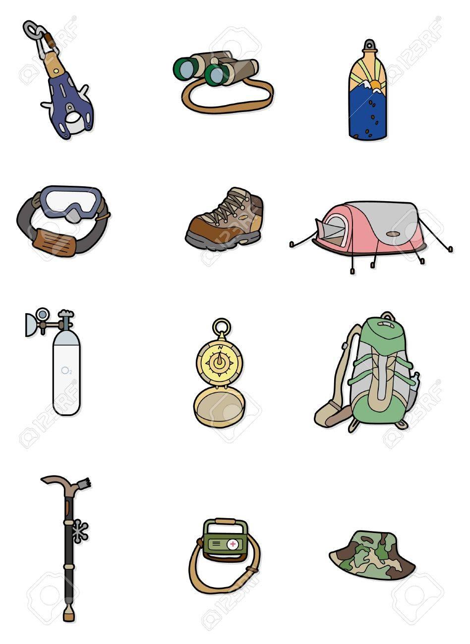 Cartoon Escalade équipement Icône Clip Art Libres De Droits ...