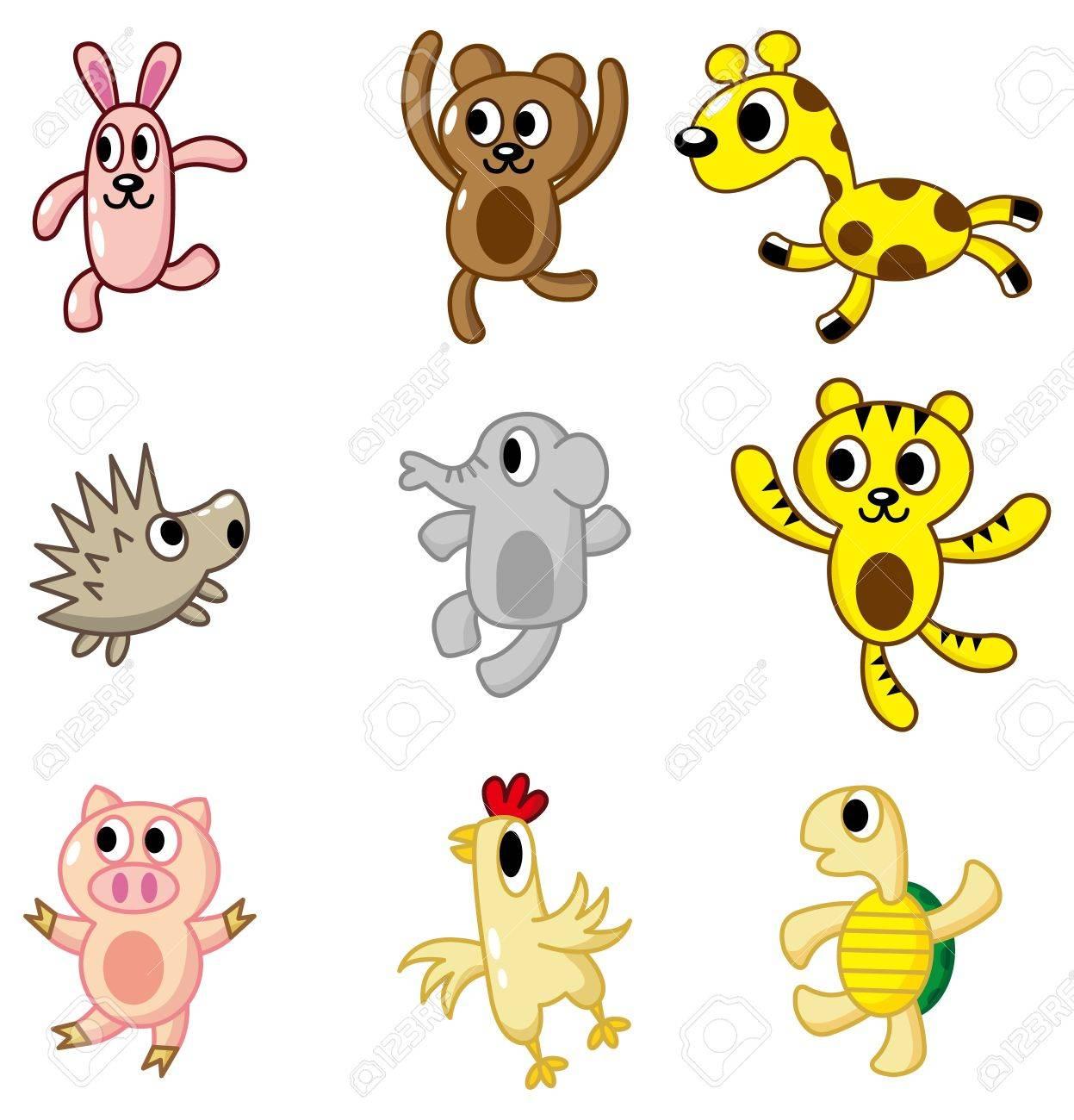 cartoon animal icon Stock Vector - 8545627