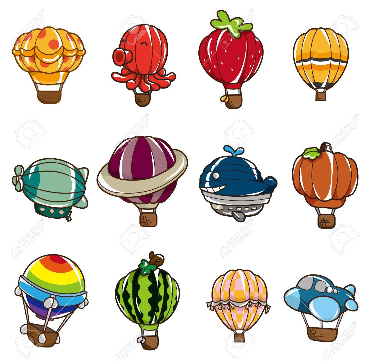 cartoon hot air balloon icon Stock Vector - 8545644