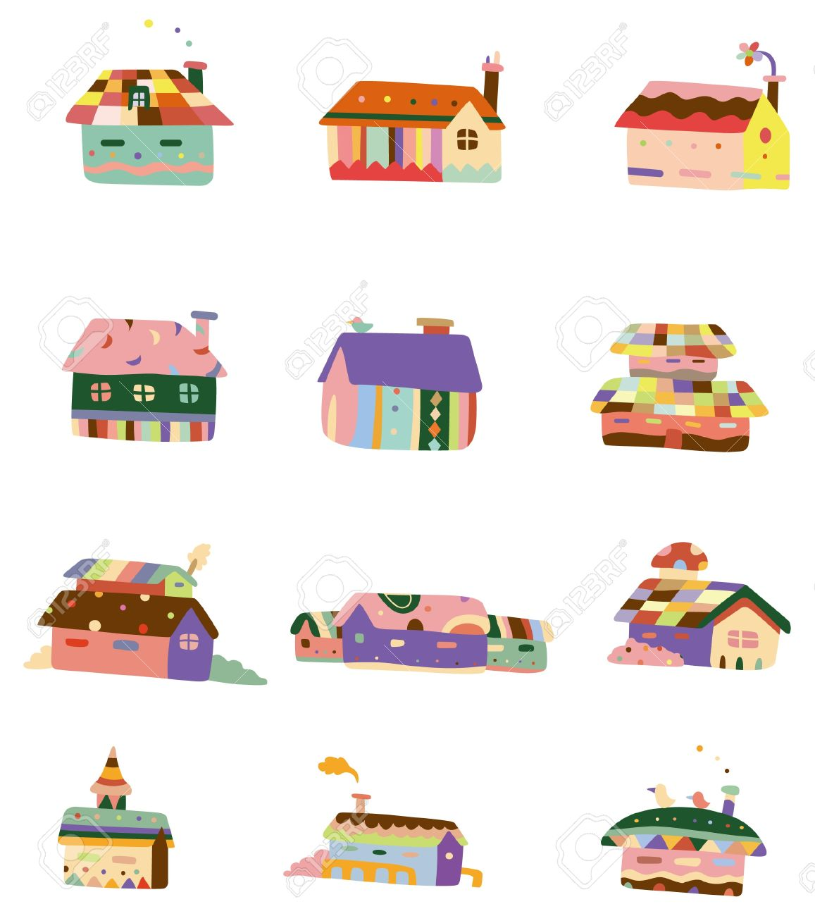cartoon color house icon royalty free cliparts vectors and stock