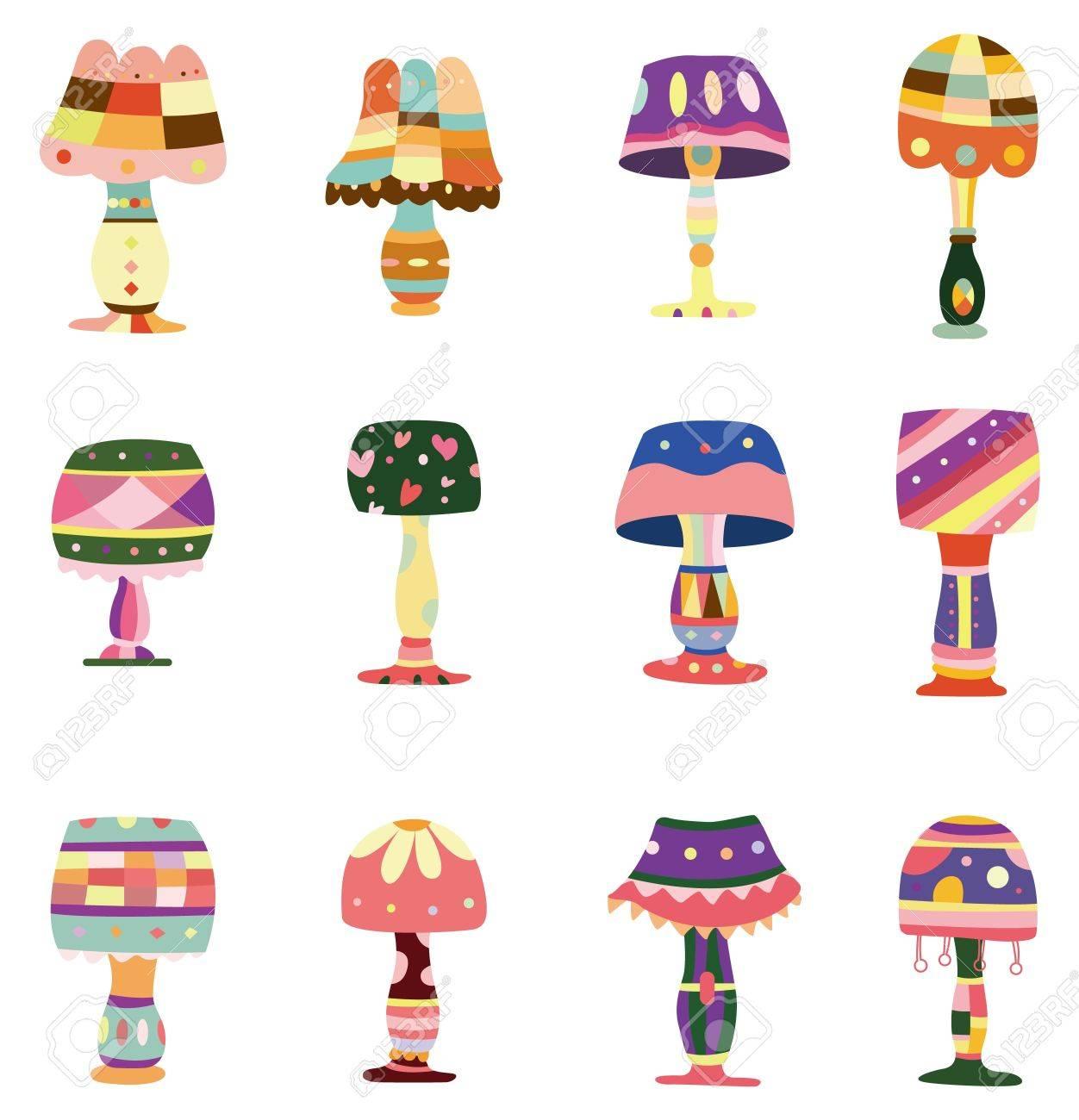 cartoon colorful lamp icon Stock Vector - 8579367