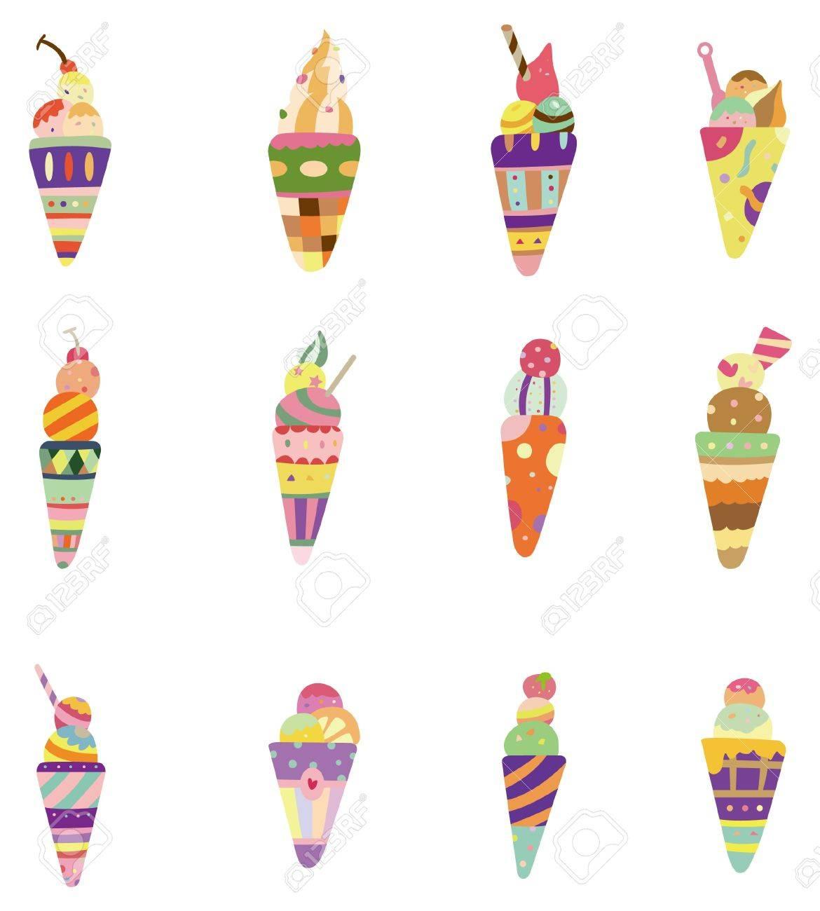 cartoon ice cream icon Stock Vector - 8579363