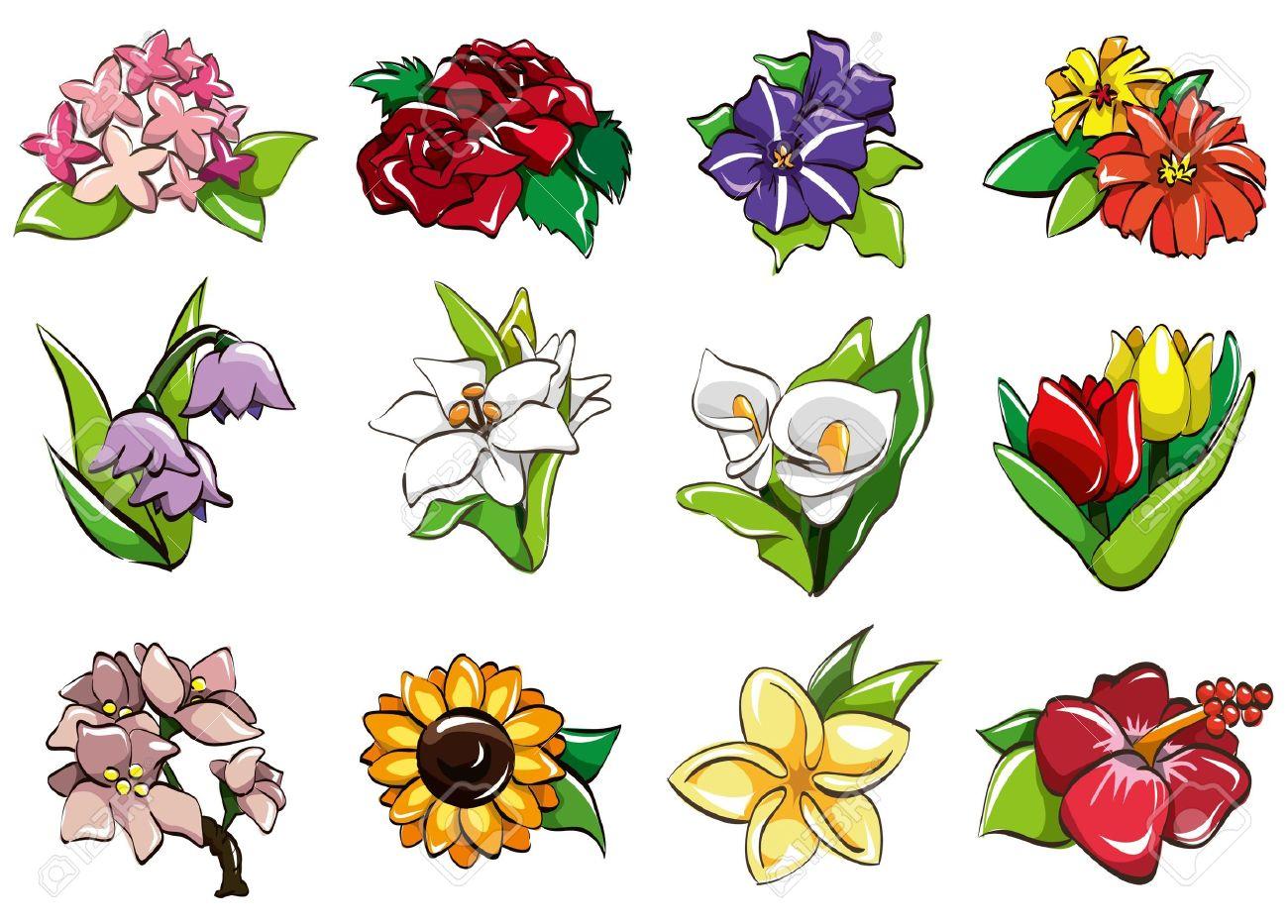 cartoon flower icon Stock Vector - 8579384