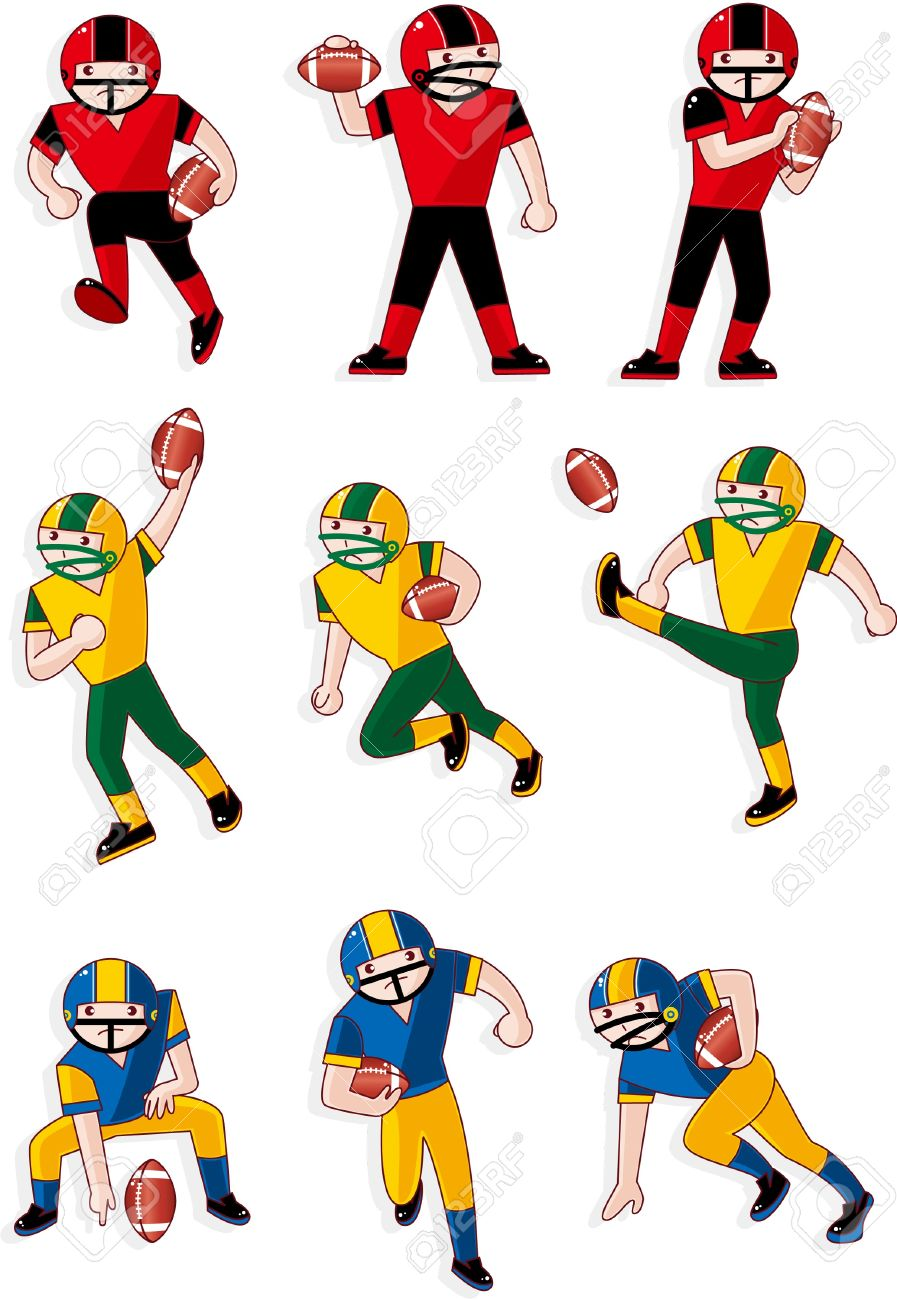 cartoon football player icon stock vector 8579335