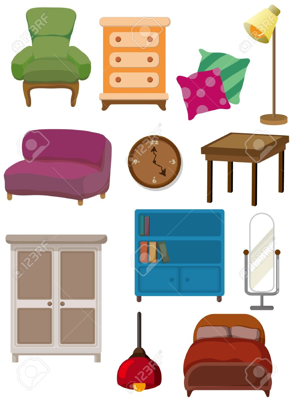 Cartoon Furniture Icon Royalty Free Cliparts Vectors And Stock  # Muebles De Caeton