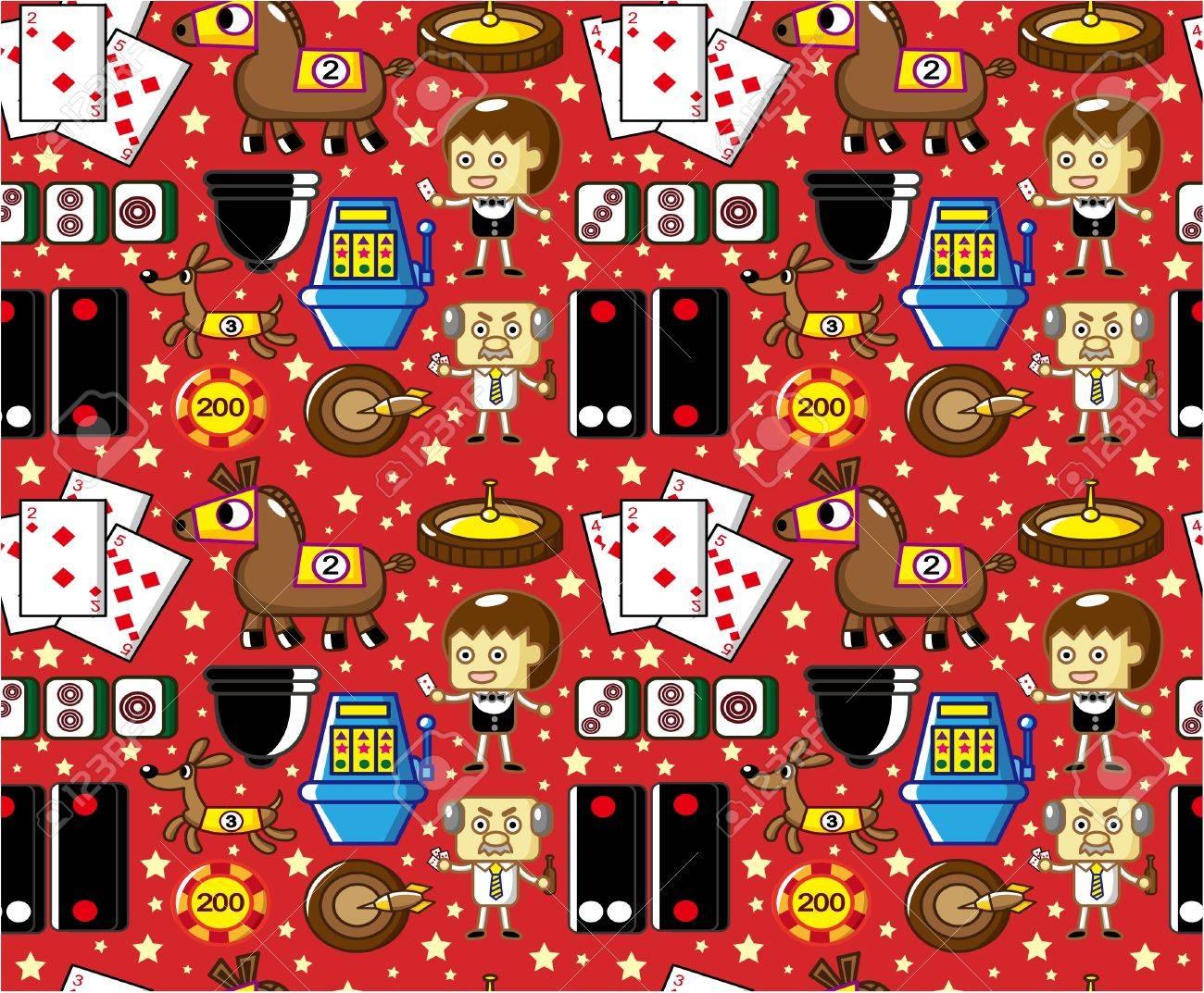 seamless casino pattern Stock Vector - 8598877