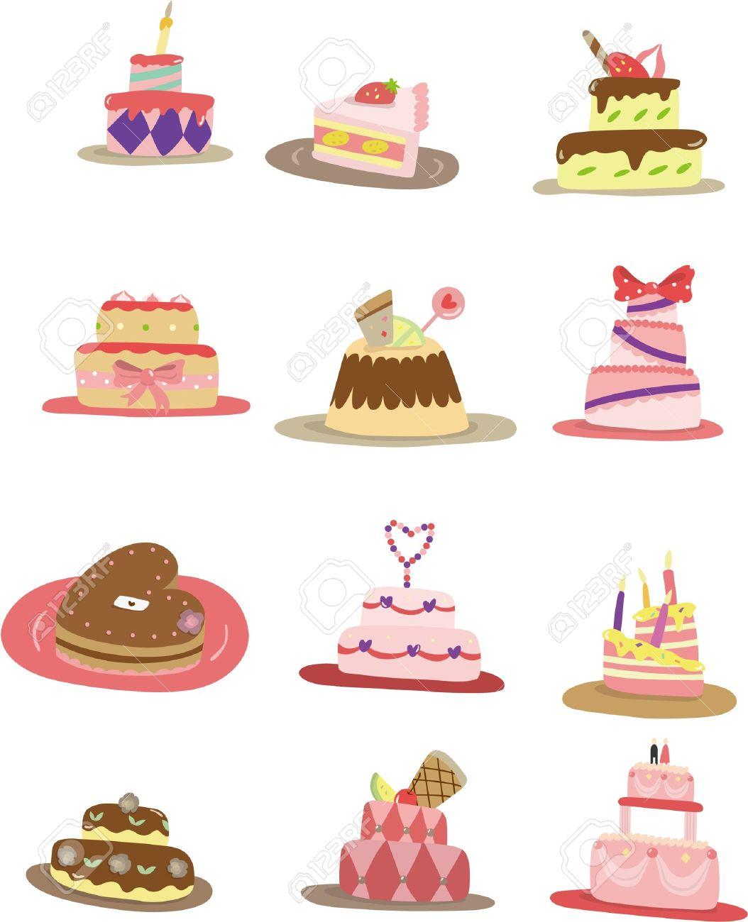 cartoon cake icon - 8613952