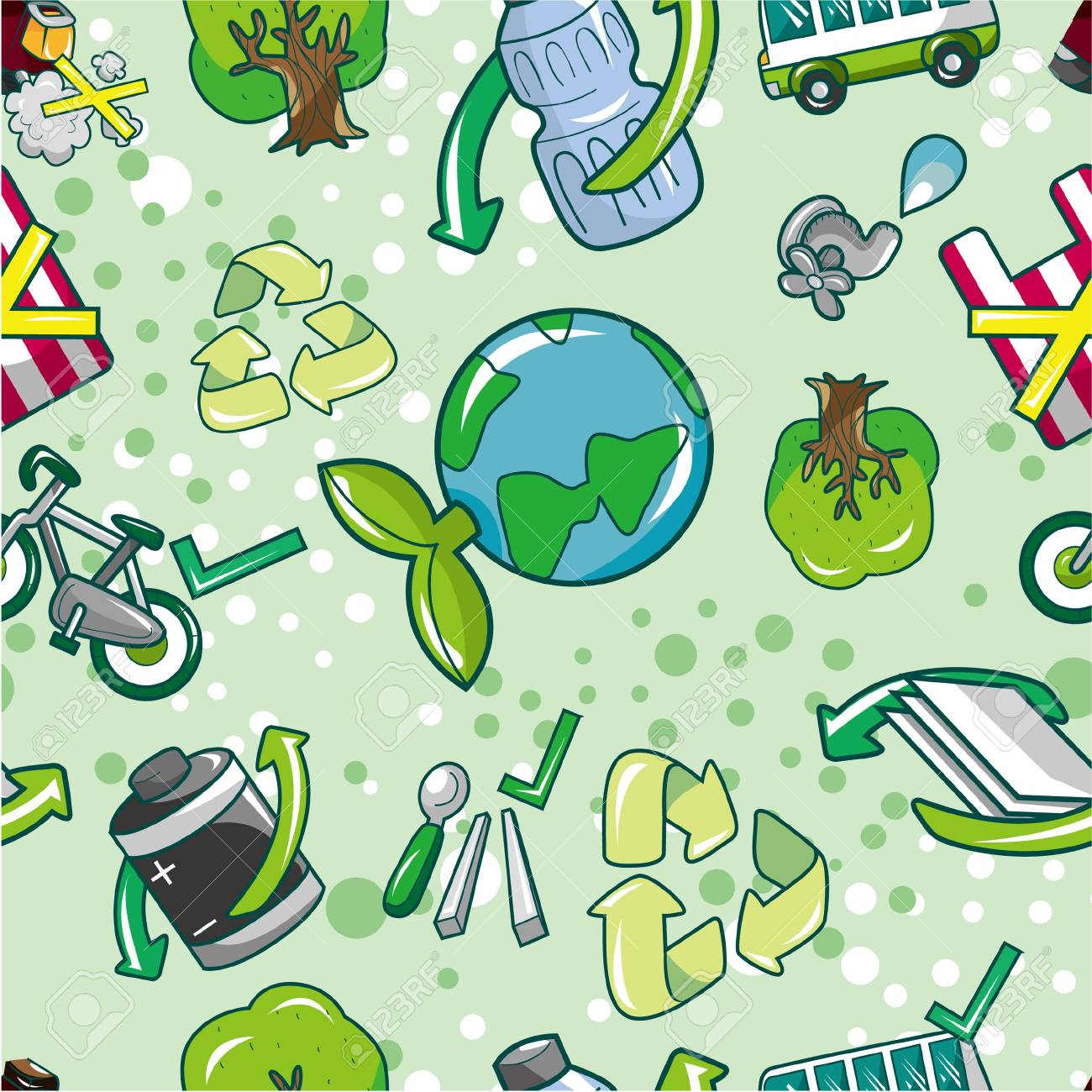 seamless eco pattern Stock Vector - 8613953