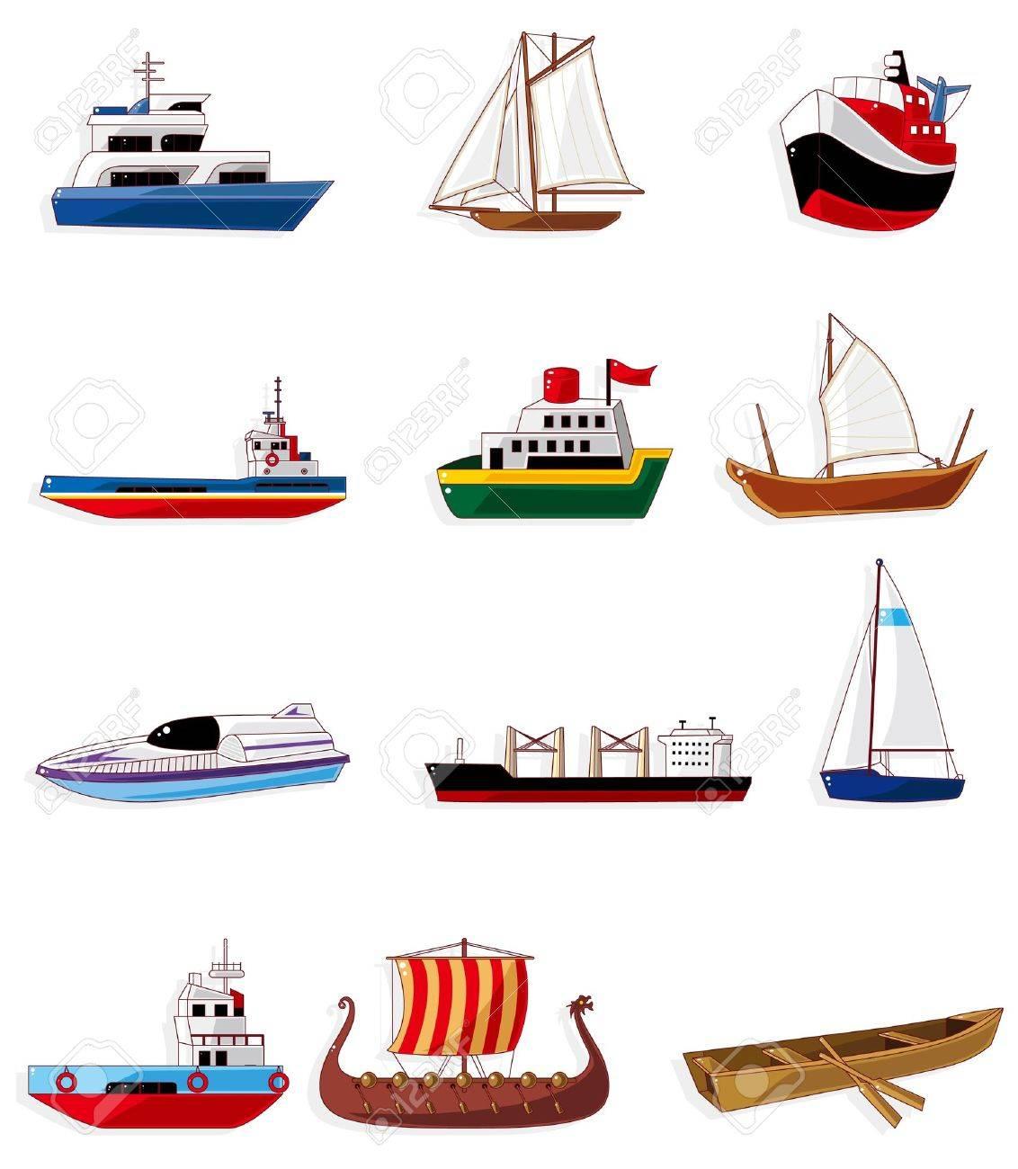 cartoon boat icon  boat  ship  Cartoon Explorer Ships