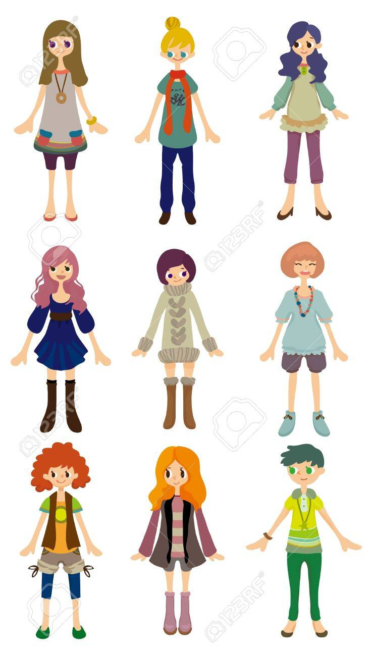 cartoon girl icon Stock Vector - 8639227