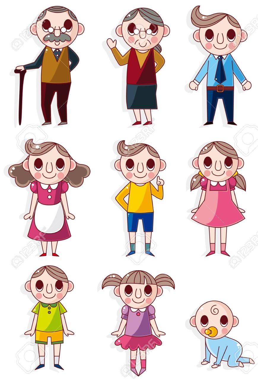 cartoon family icon Stock Vector - 8659135