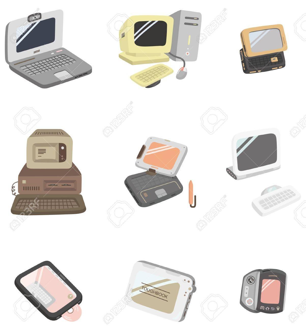 cartoon computer icon Stock Vector - 8713440