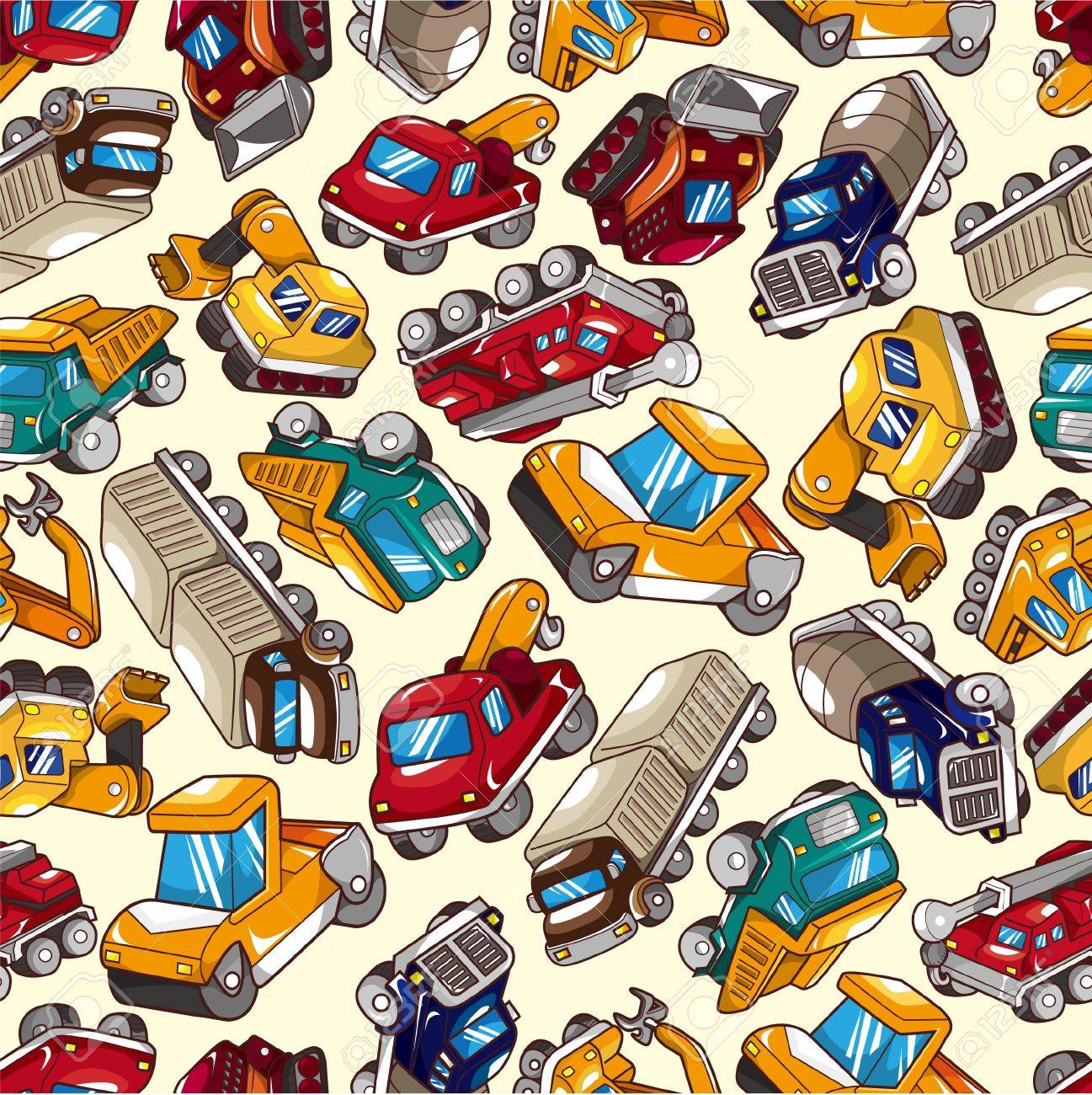 seamless truck pattern Stock Vector - 8713443