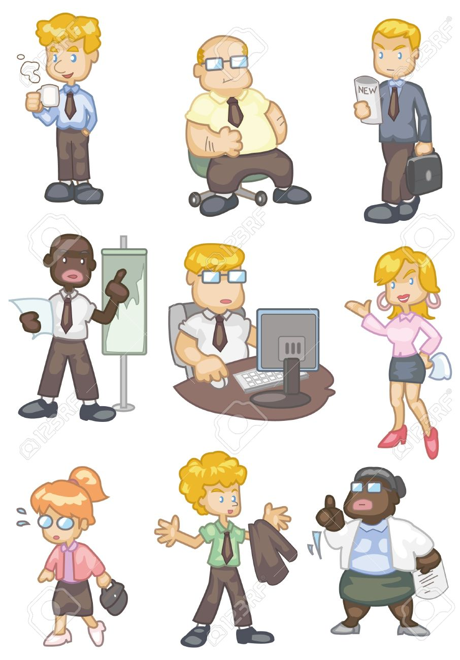 Business team cartoon characters cartoon vector cartoondealer com - Salesman Cartoon Cartoon Worker Icon
