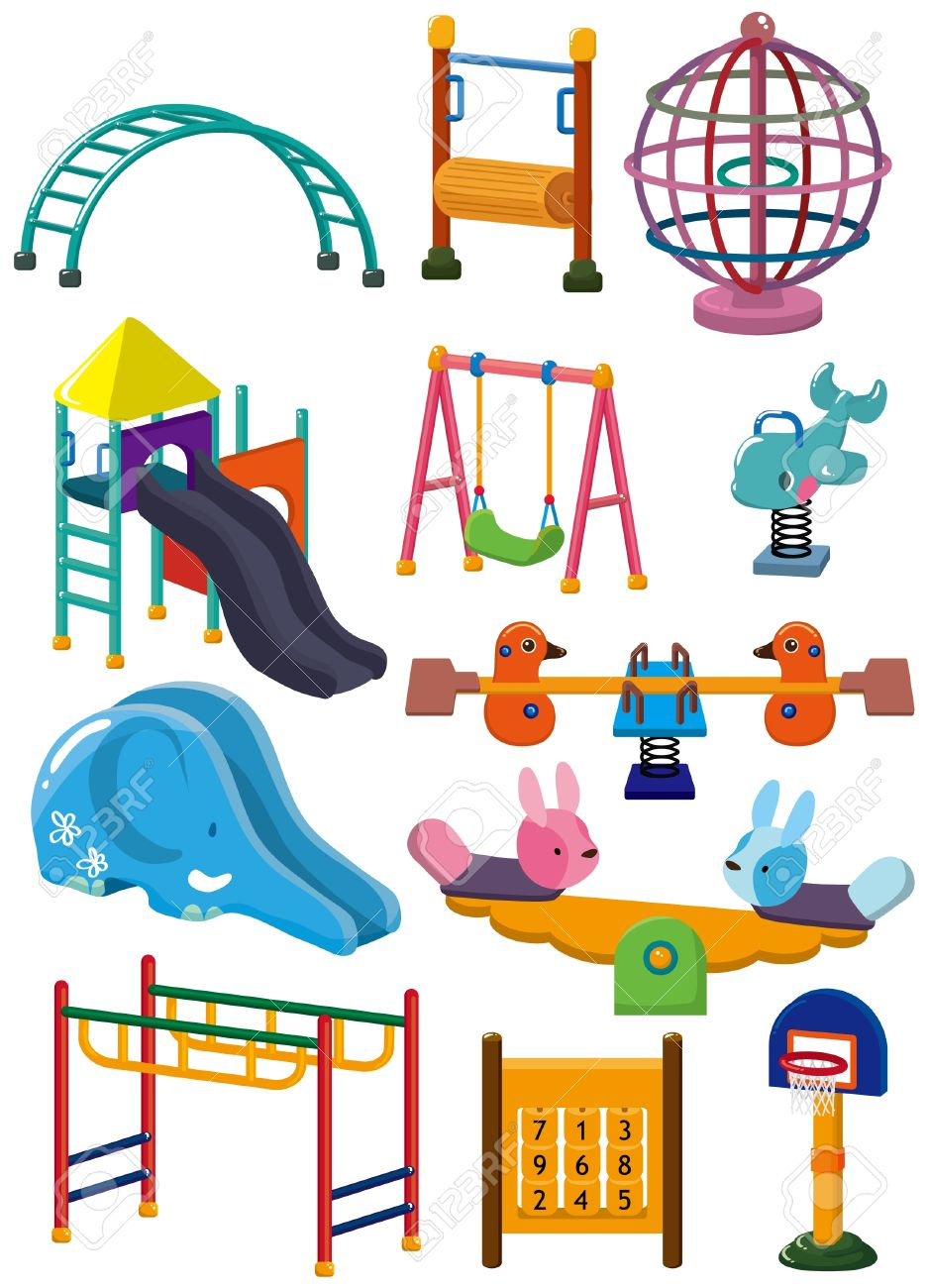 cartoon park playground icon Stock Vector - 8713477