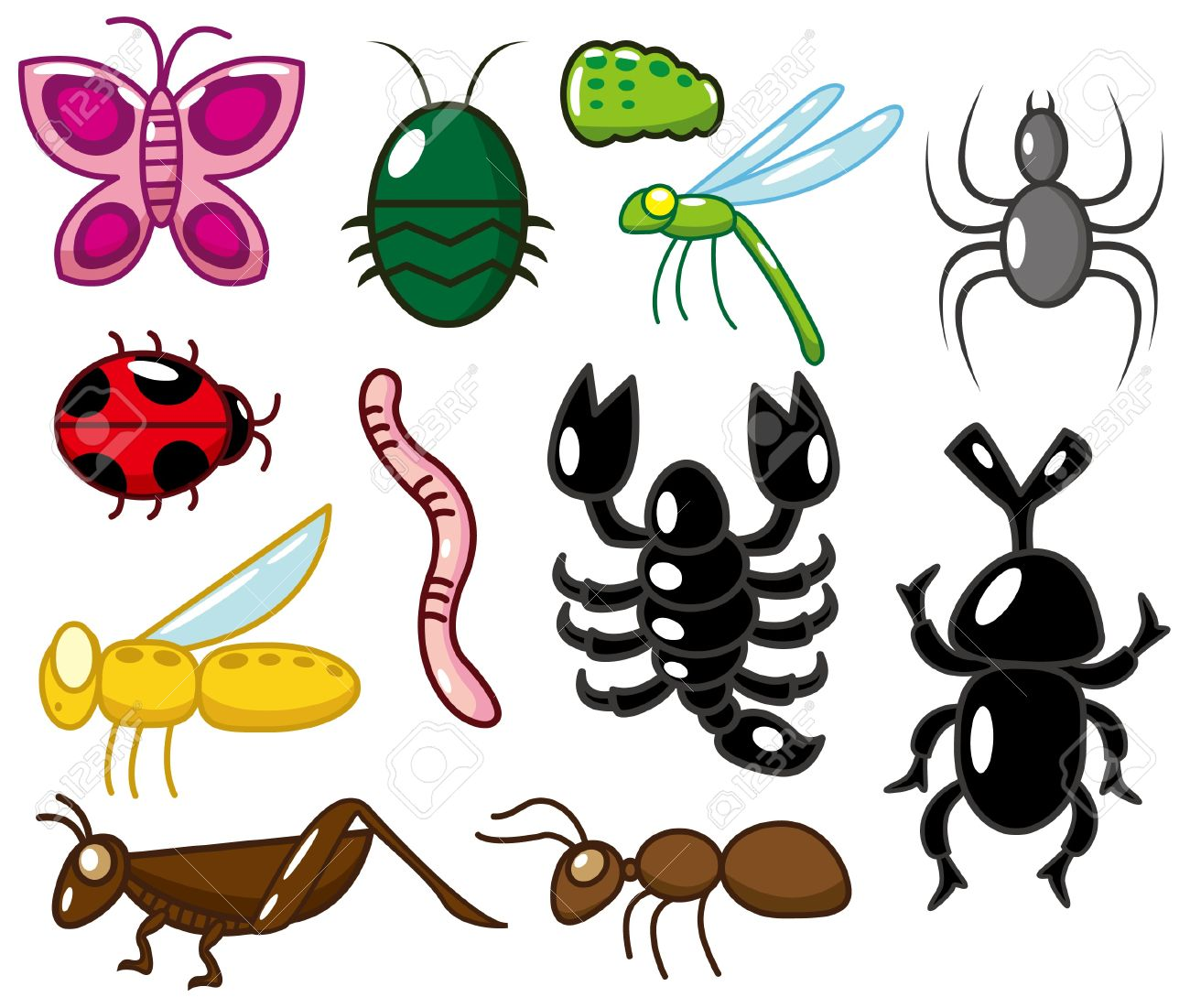 cartoon insect  icon Stock Vector - 8713488