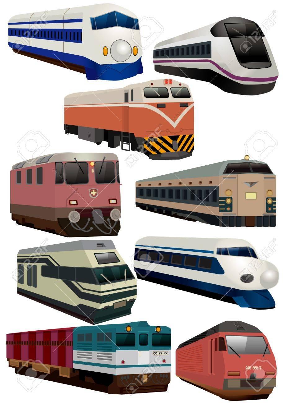 cartoon train icon royalty free cliparts vectors and stock
