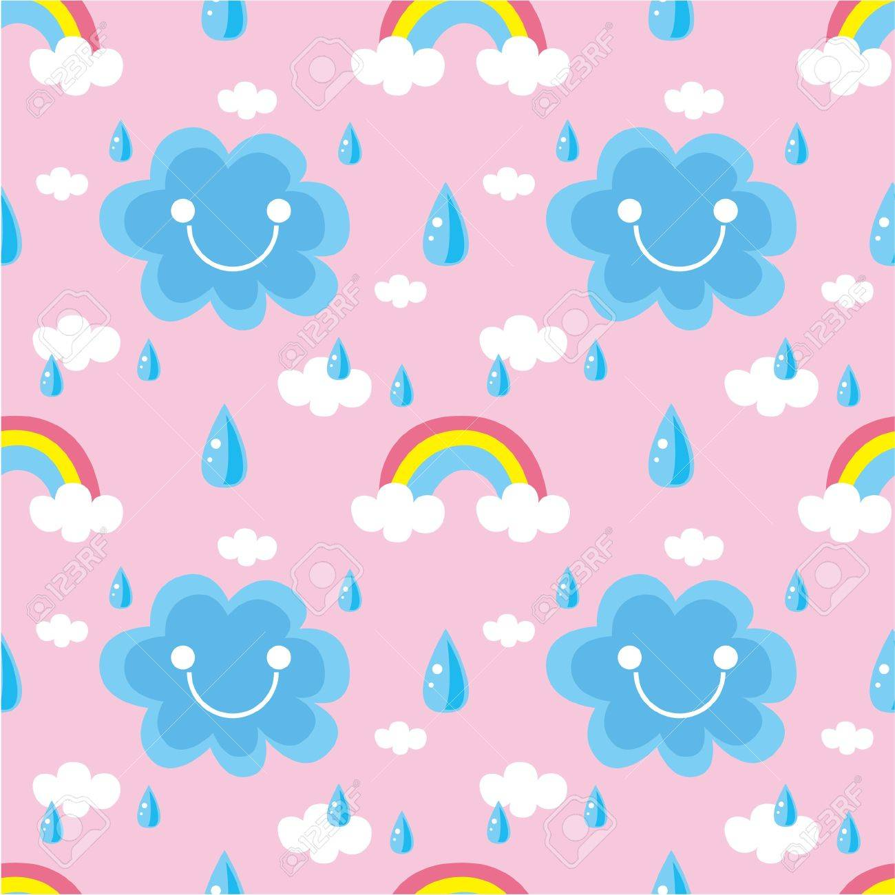 seamless weather pattern Stock Vector - 8918608