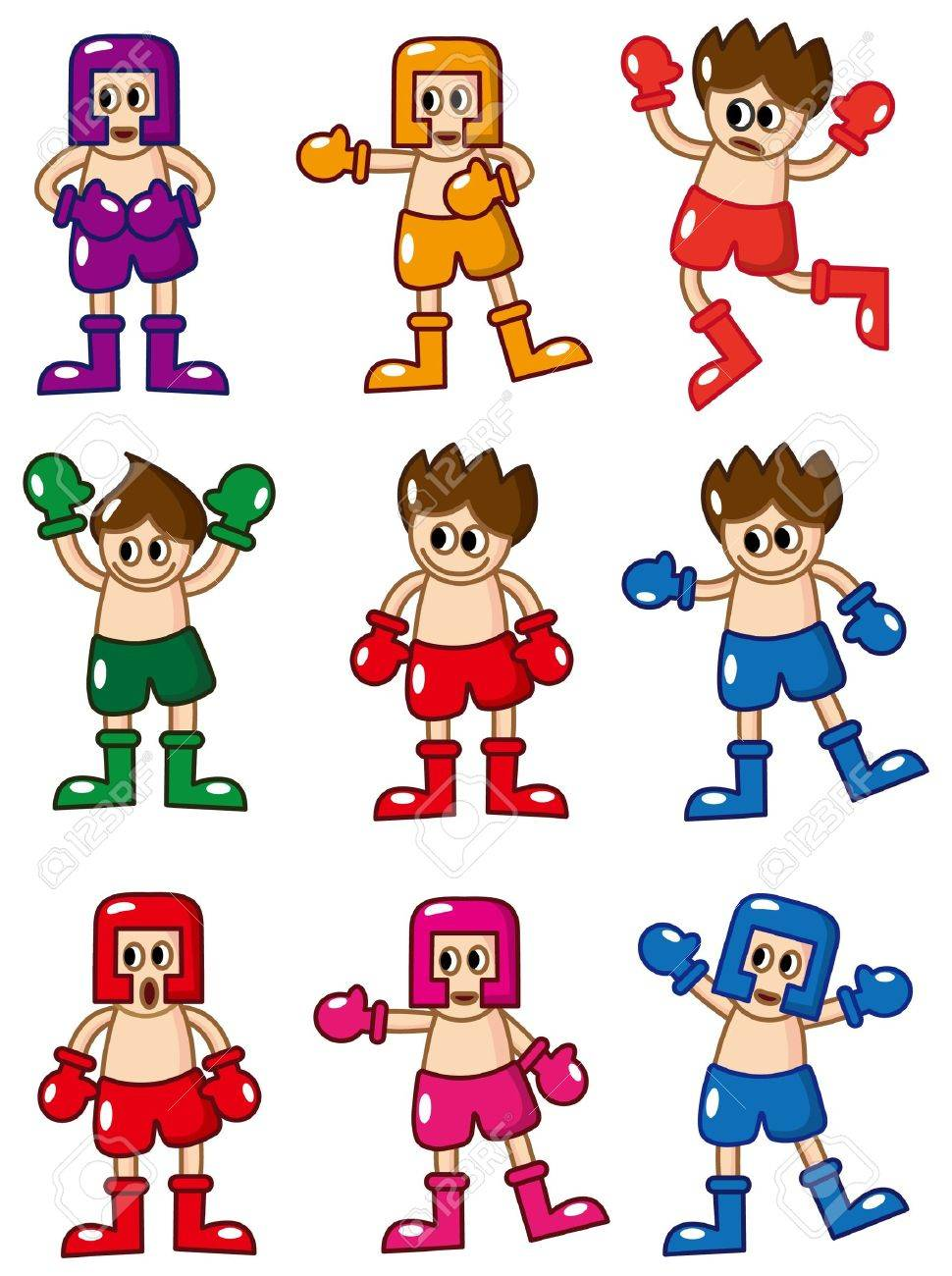 cartoon boxer icon Stock Vector - 8927513