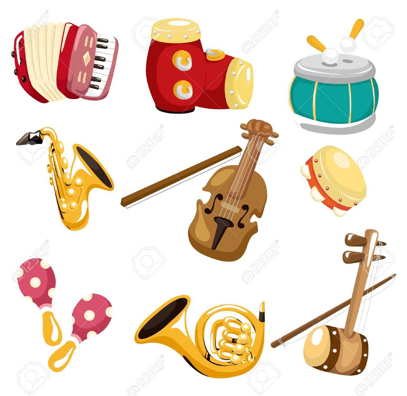 cartoon musical instrument icon - 8927619