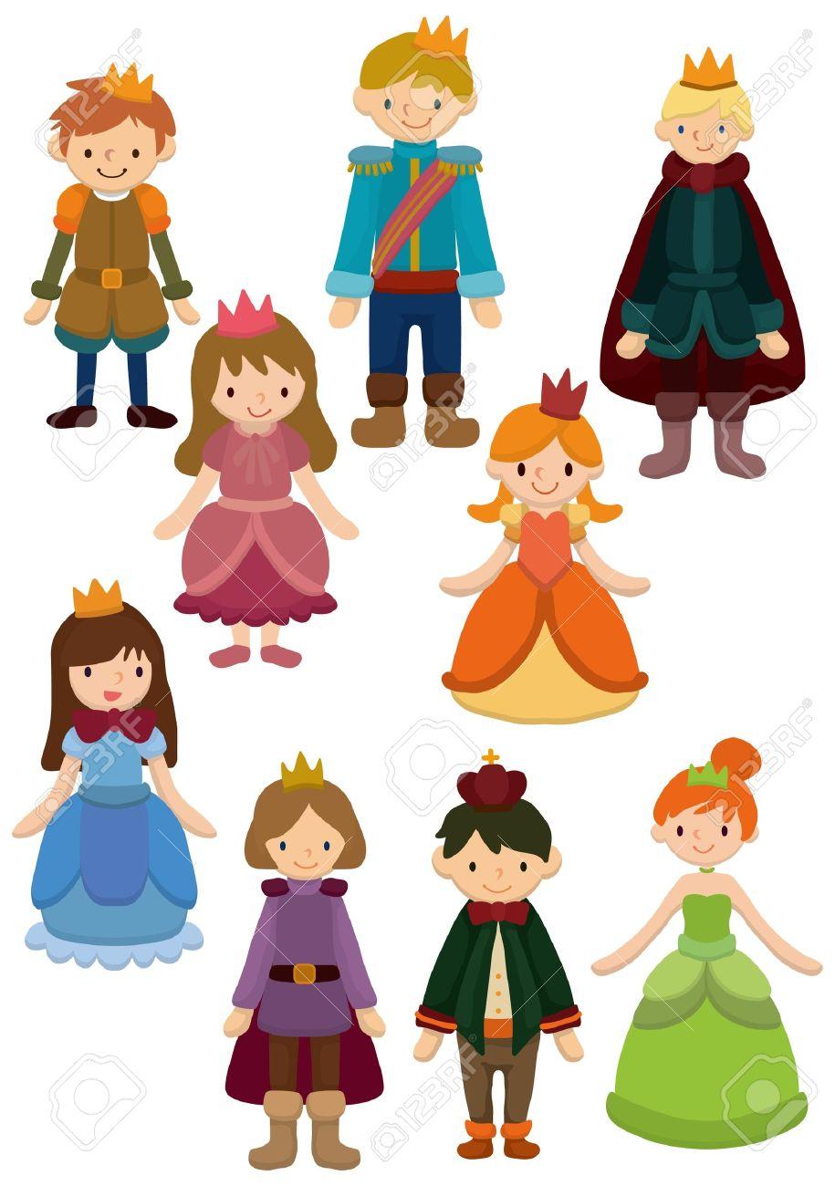 Icono De Príncipe Y Princesa De Dibujos Animados