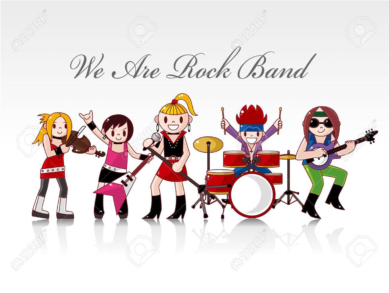 rock band card royalty free cliparts vectors and stock rh 123rf com classic rock band clipart cartoon rock band clipart