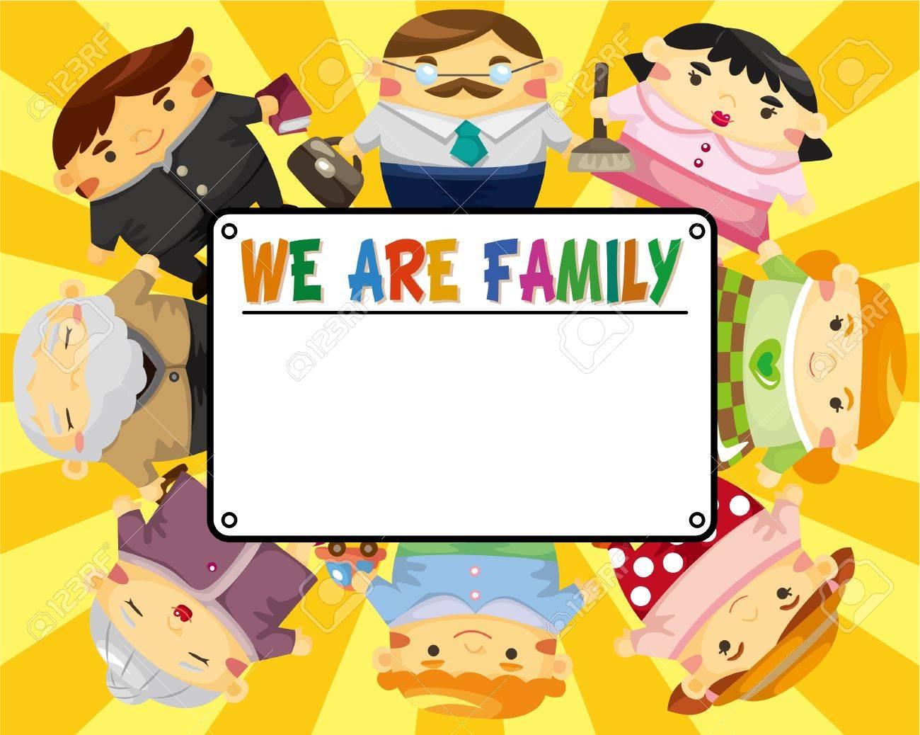 cartoon family card Stock Vector - 9055959