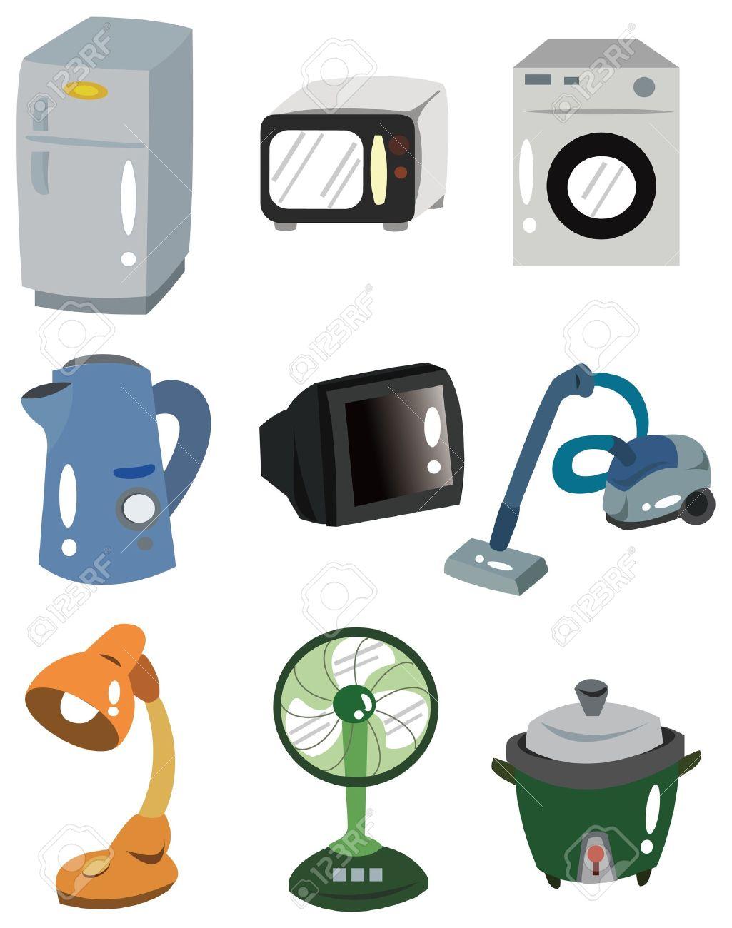 cartoon Home Appliances icon Stock Vector - 9109645