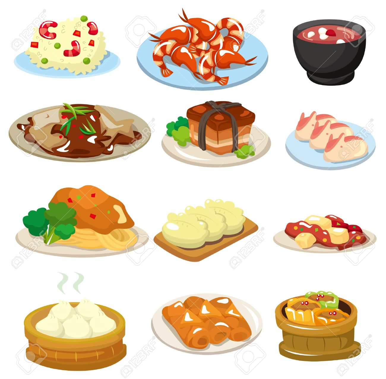 cartoon chinese food icon royalty free cliparts vectors and stock rh 123rf com chinese food clipart black and white chinese food clipart free