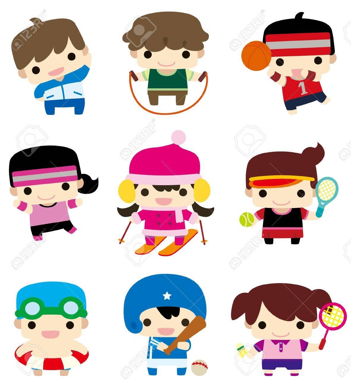 cartoon sport player icon Stock Vector - 9148259