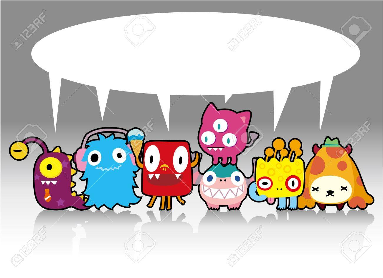 cartoon monster card Stock Vector - 9148263