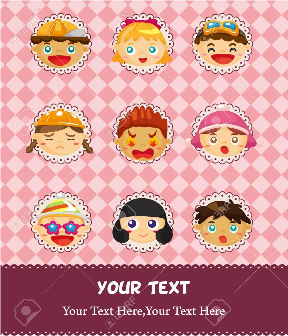 cartoon child card Stock Vector - 9148270