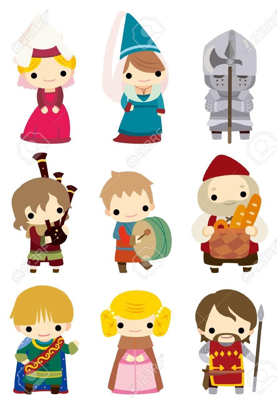 cartoon Medieval people icon Stock Vector - 9187221