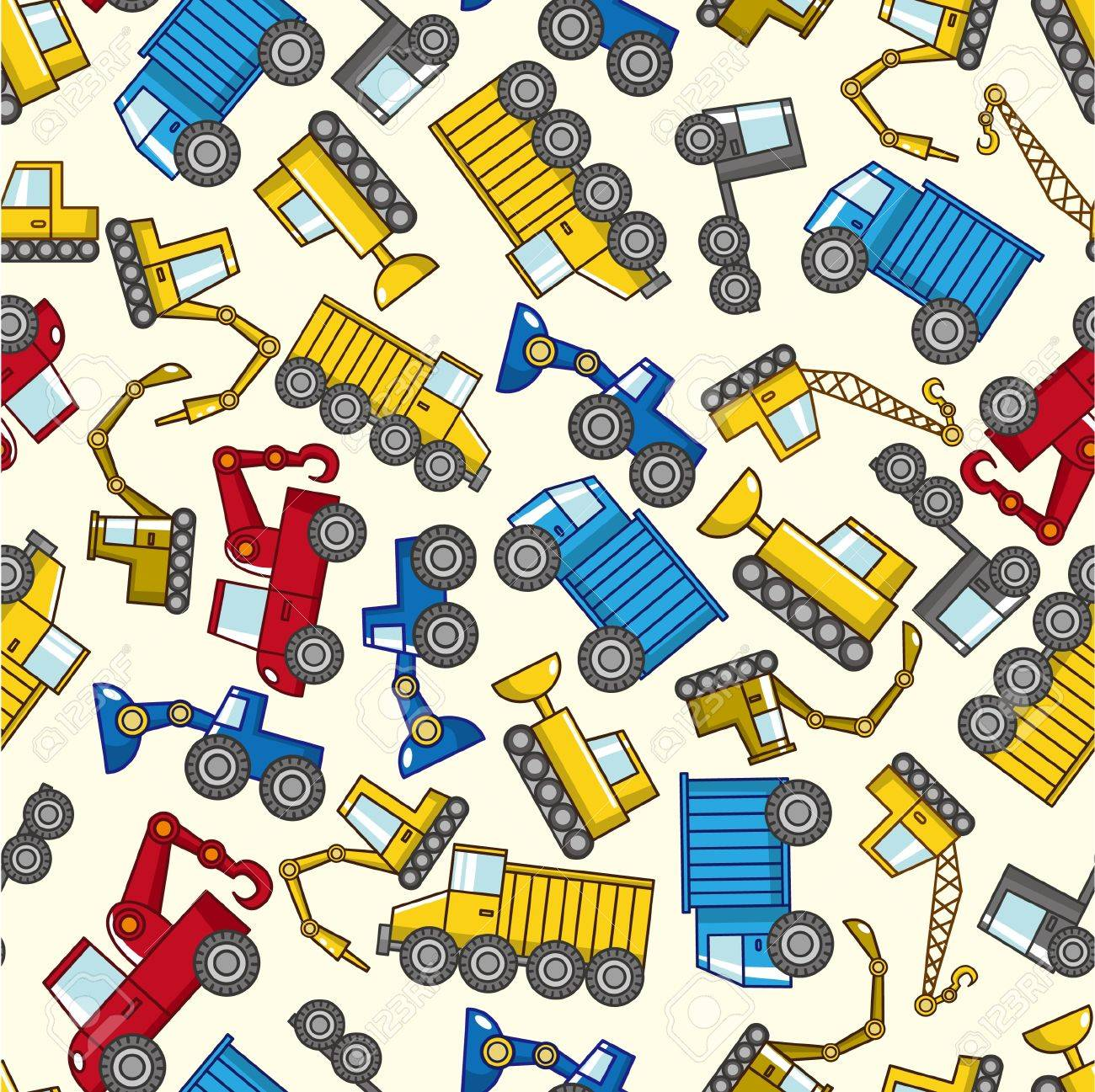 seamless truck pattern Stock Vector - 9190577