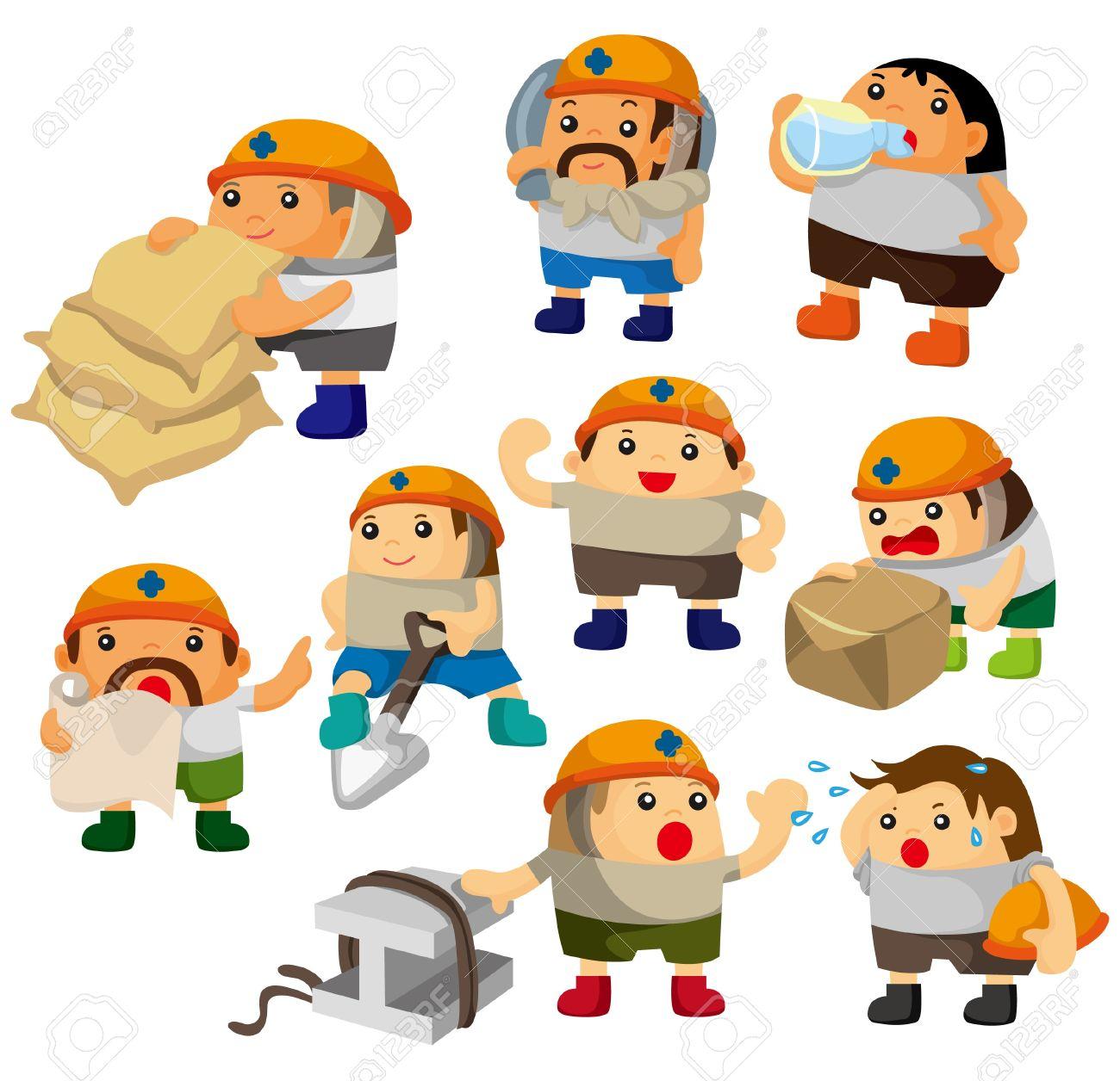 cartoon worker icon Stock Vector - 9190581