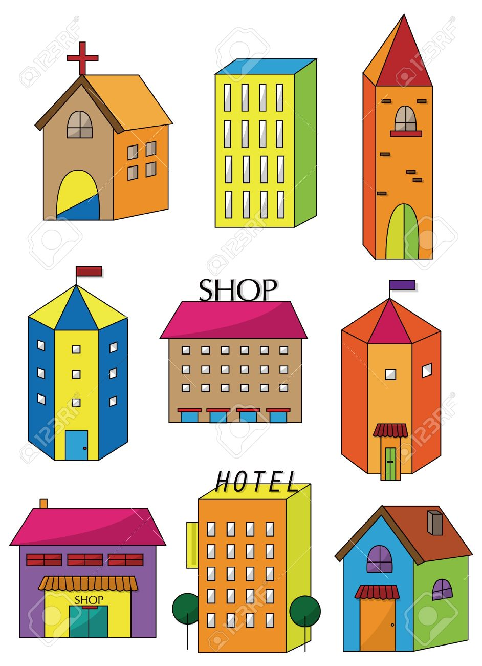 cartoon house icon Stock Vector - 9297118