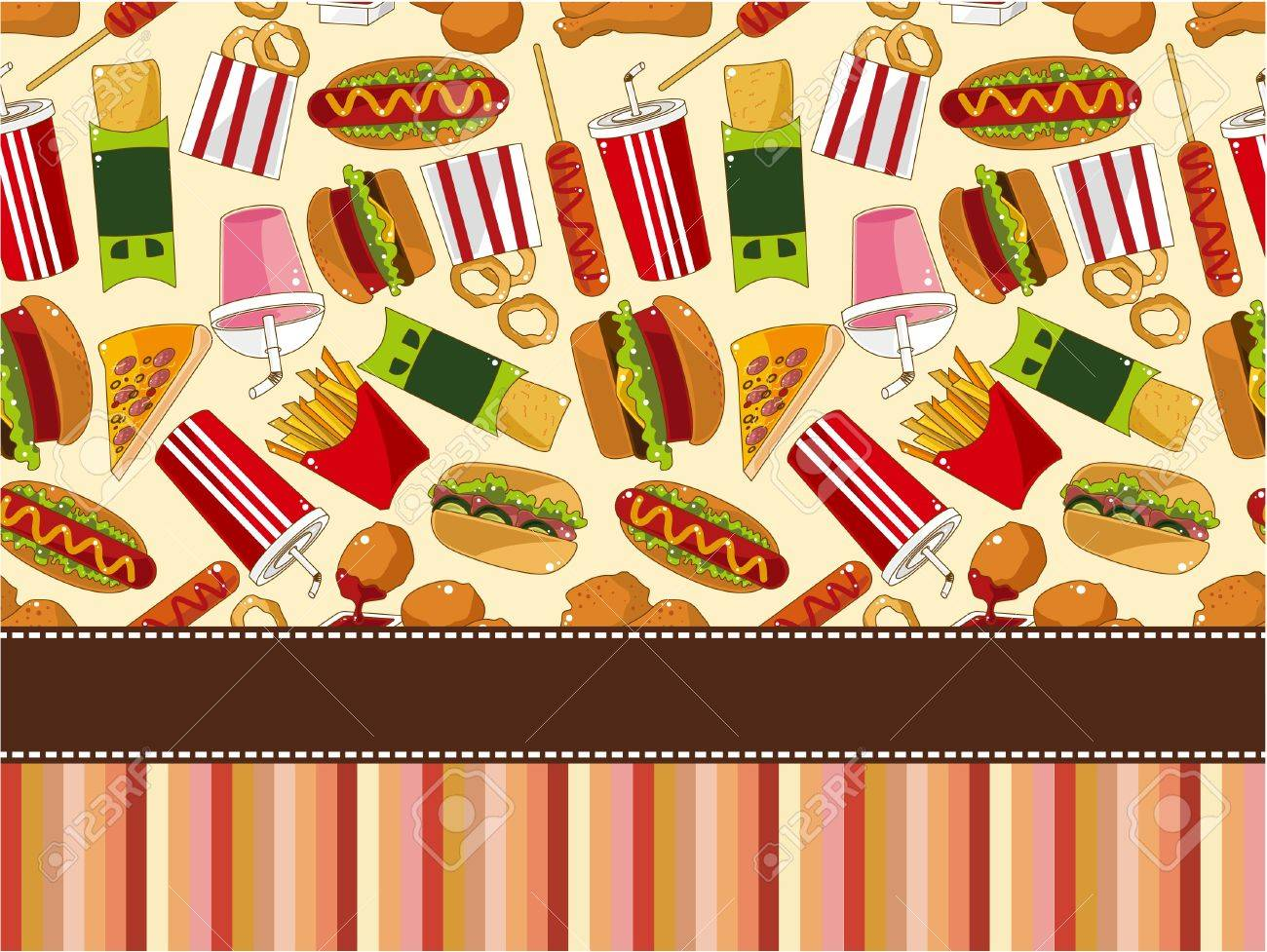 fast food card Stock Vector - 9297122