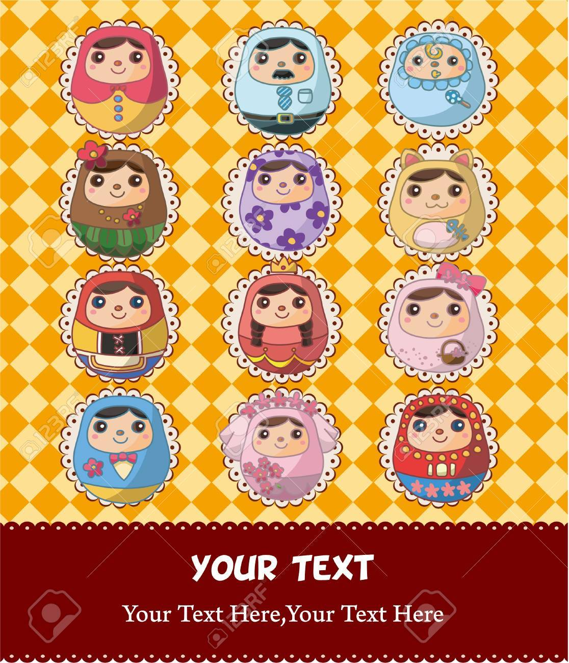 Russian Doll card Stock Vector - 9312150