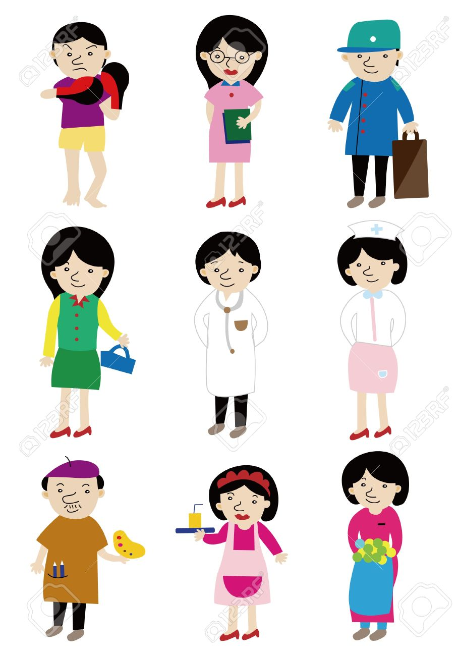 cartoon people job icon royalty free cliparts vectors and stock rh 123rf com job clip art images odd job clipart