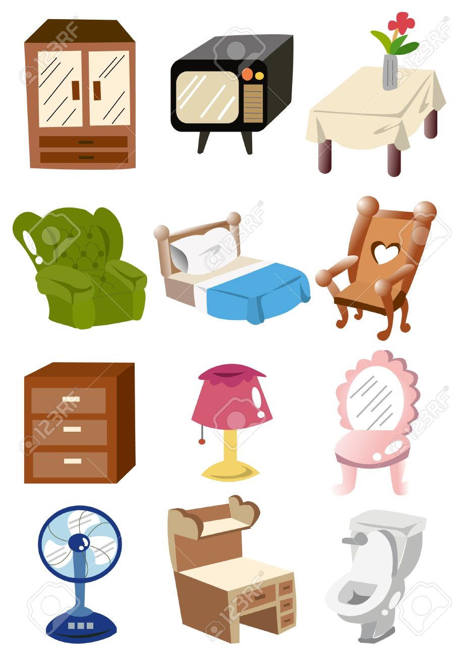 Cartoon Home Furniture Icon Royalty Free Cliparts Vectors And  # Muebles Dibujos Animados
