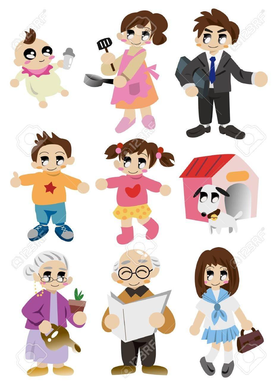 cartoon family icon Stock Vector - 9423315