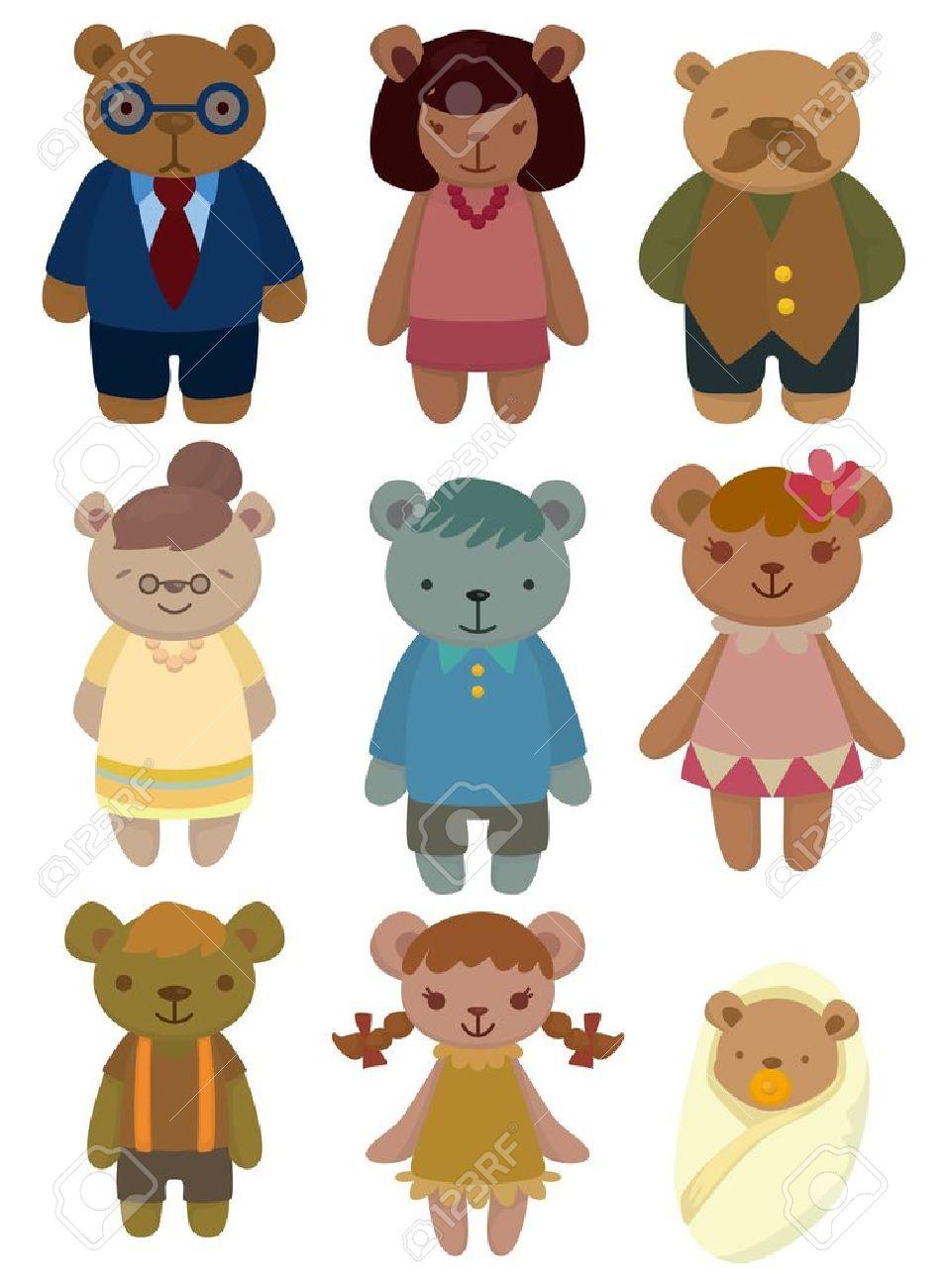 cartoon bear family set icon Stock Vector - 9477449